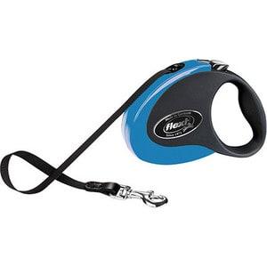 Рулетка Flexi Collection S лента 3м черная/голубая для собак до 12кг рулетка flexi collection s лента 3м черная голубая для собак до 12кг