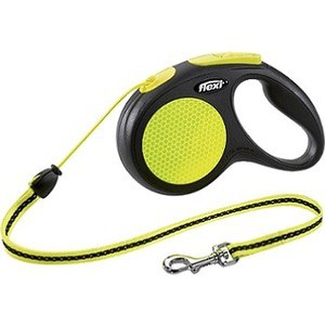 Рулетка Flexi Neon New Classic М трос 5м для собак до 20кг