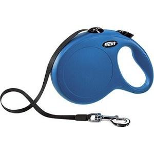 Рулетка Flexi New Classic L лента 8м черная для собак до 50кг подсветка на корпус рулетки flexi led lighting systeм