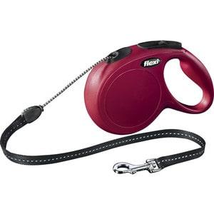 Рулетка Flexi New Classic M трос 8м красная для собак до 20кг