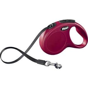 Рулетка Flexi New Classic M-L лента 5м красная для собак до 50кг