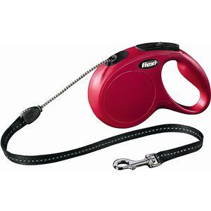 все цены на Рулетка Flexi New Classic S трос 8м красная для собак до 12кг онлайн