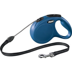 Рулетка Flexi New Classic М трос 5м синяя для собак до 20кг рулетка flexi new classic м трос 5м черная для собак до 20кг