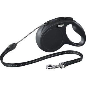 Рулетка Flexi New Classic М трос 5м черная для собак до 20кг рулетка flexi new classic м трос 5м черная для собак до 20кг