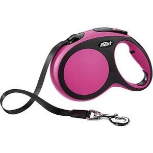 flexi new comfort рулетка l ремень 8м 50кг синяя Рулетка Flexi New Comfort L лента 8м черный/розовый для собак до 50кг