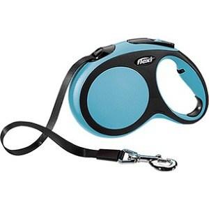 flexi new comfort рулетка l ремень 8м 50кг синяя Рулетка Flexi New Comfort L лента 8м черный/синий для собак до 50кг