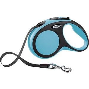 Рулетка Flexi New Comfort S лента 5м черный/синий для собак до 15кг