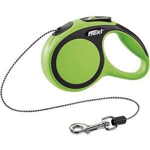 Рулетка Flexi New Comfort XS трос 3м черный/зеленый для собак до 8кг рулетка flexi new comfort xs трос 3м черный зеленый для собак до 8кг