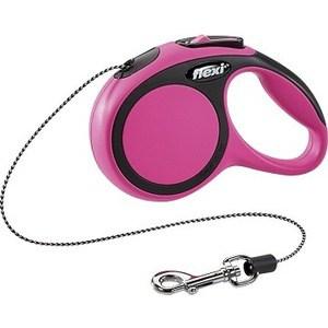 Рулетка Flexi New Comfort XS трос 3м черный/розовый для собак до 8кг flexi new classic рулетка xs 8кг трос 3м розовая