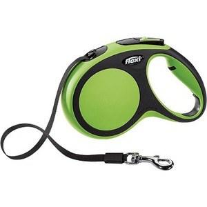 Рулетка Flexi New Comfort М лента 5м черный/зеленый для собак до 25кг поводки triol поводок рулетка размер m 5м до 25кг лента