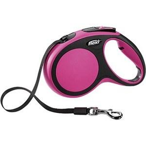 Рулетка Flexi New Comfort М лента 5м черный/розовый для собак до 25кг рулетка для собак flexi new comfort m до 25кг лента 5м черный розовый