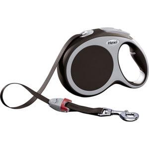 flexi new comfort рулетка l ремень 8м 50кг синяя Рулетка Flexi VARIO L лента 8м коричневая для собак до 50кг