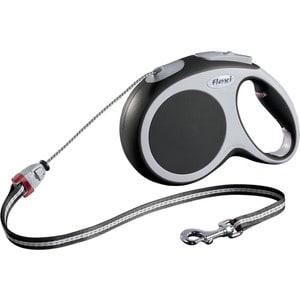 Рулетка Flexi VARIO M трос 8м антрацит для собак до 20кг