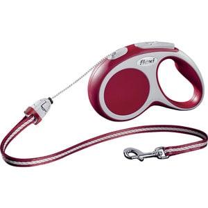 Рулетка Flexi VARIO S трос 5м красная для собак до 12кг цена