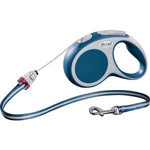 Рулетка Flexi VARIO S трос 5м синяя для собак до 12кг рулетка для собак flexi vario long s до 12кг трос 8м синяя