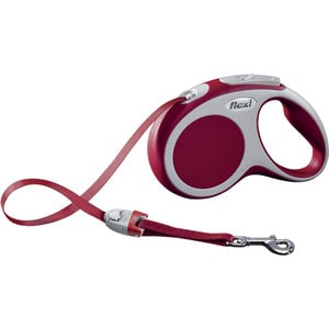 Рулетка Flexi VARIO S лента 5м красная для собак до 15кг