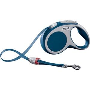 Рулетка Flexi VARIO S лента 5м синяя для собак до 15кг