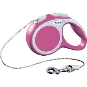 Рулетка Flexi VARIO XS трос 3м розовая для собак до 8кг