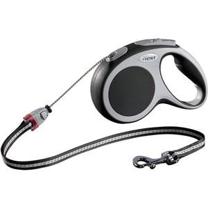 Рулетка Flexi VARIO М трос 5м антрацит для собак до 20кг