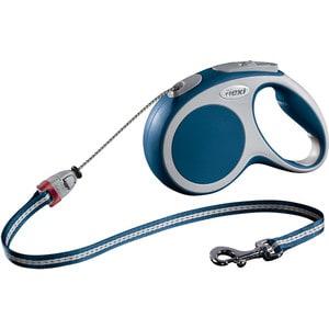 Рулетка Flexi VARIO М трос 5м синяя для собак до 20кг