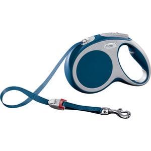 Рулетка Flexi VARIO М лента 5м синяя для собак до 25кг flexi vario м до 25 кг лента 5 м антрацит