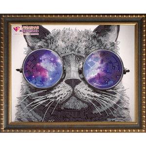Фотография товара алмазная мозаика Алмазная живопись Кот в очках (АЖ-3003) (721522)