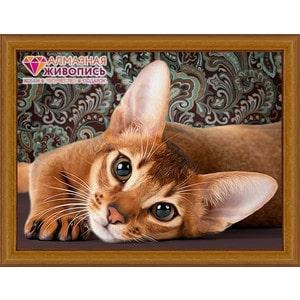 Алмазная мозаика Алмазная живопись Абиссинская кошка (АЖ-1458)