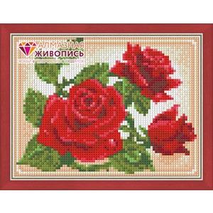 Алмазная мозаика Алмазная живопись Молодая роза (АЖ-1446)