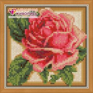 Алмазная мозаика Алмазная живопись Румяная роза (АЖ-1450)