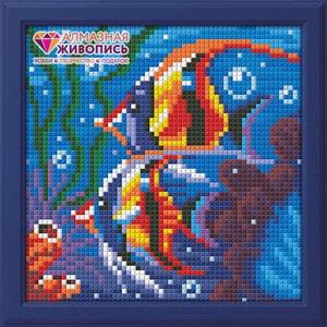 Алмазная мозаика Алмазная живопись Обитатели рифа (АЖ-1364)