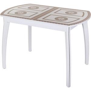 Стол Домотека Гамма ПО (-1 БЛ ст-71 07 ВП БЛ) стол с ящиками витра 19 71