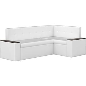 Кухонный угловой диван АртМебель Остин эко-кожа белый правый угол диван остин от бора 74