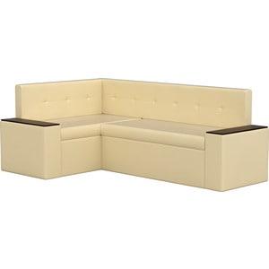 Кухонный угловой диван АртМебель Остин эко-кожа бежевый левый угол диван остин от бора 74