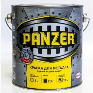 Краска по металлу PANZER ГЛАДКАЯ голубая 2.3л. ral 5012