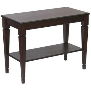 Стол журнальный Мебелик Васко В 84Н темно-коричневый/патина шатура стол журнальный васко в 80 темно коричневый патина
