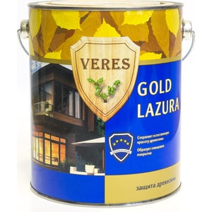 Антисептик для дерева VERES GOLD LASURA№12 белый 2.7л.