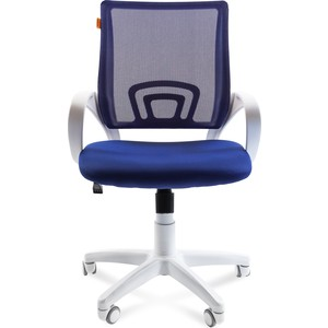 Офисное кресло Chairman 696 белый пластик TW-10/TW-05 синий цена и фото