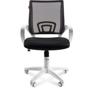 Офисное кресло Chairman 696 белый пластик TW-11/TW-01 черный цена и фото