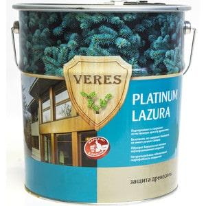 Антисептик для дерева VERES PLATINUM LAZURA № 9 палисандр 10л. антисептик для дерева veres platinum lazura 2 сосна 2 7л