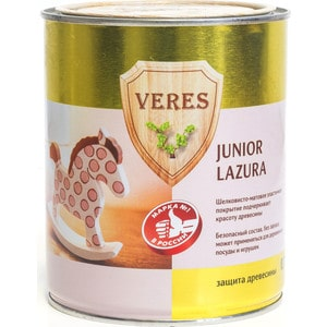 Антисептик для дерева VERES JUNIOR LAZURA № 1 бесцветный 0.75л. smart junior 1 flashcards