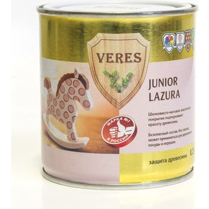 Антисептик для дерева VERES JUNIOR LAZURA №25 лимонный 0.25л.