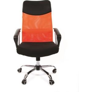 Офисное кресло Chairman 610 черный/оранжевый