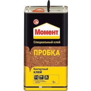 Клей контактный МОМЕНТ ПРОБКА 5л.