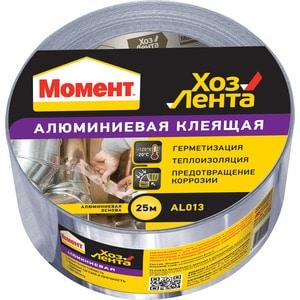Скотч Момент хоз.лента алюминиевая клеящая 48мм. х 25м. от ТЕХПОРТ