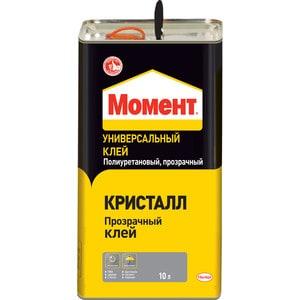 Клей прозрачный МОМЕНТ КРИСТАЛЛ универсальный 10л.