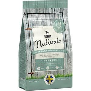 Сухой корм BOZITA Naturals Sensitive Lamb & Rice 22/12 с ягненком и рисом для взрослых собак с чувствительным пищеварением 3,5кг (13623)