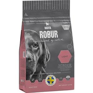 Сухой корм BOZITA ROBUR Light 19/08 для взрослых собак склонных к набору веса или с низким уровнем активности 2,5кг (14133) сухой корм bozita robur mother