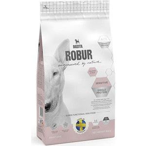 Сухой корм BOZITA ROBUR Sensitive Single Protein Salmon & Rice 21/11 с лососем и рисом для собак с чувствительным пищеварением 950г (14224)