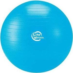 Мяч гимнастический Lite Weights 1867LW (75см, антивзрыв, с насосом, голубой) lite weights гантель неопреновая lite weights 4 кг