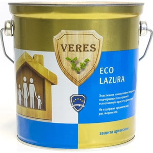 Антисептик для дерева VERES ECO LASURA № 2 сосна 2.5л. антисептик для дерева veres eco lasura 2 сосна 2 5л